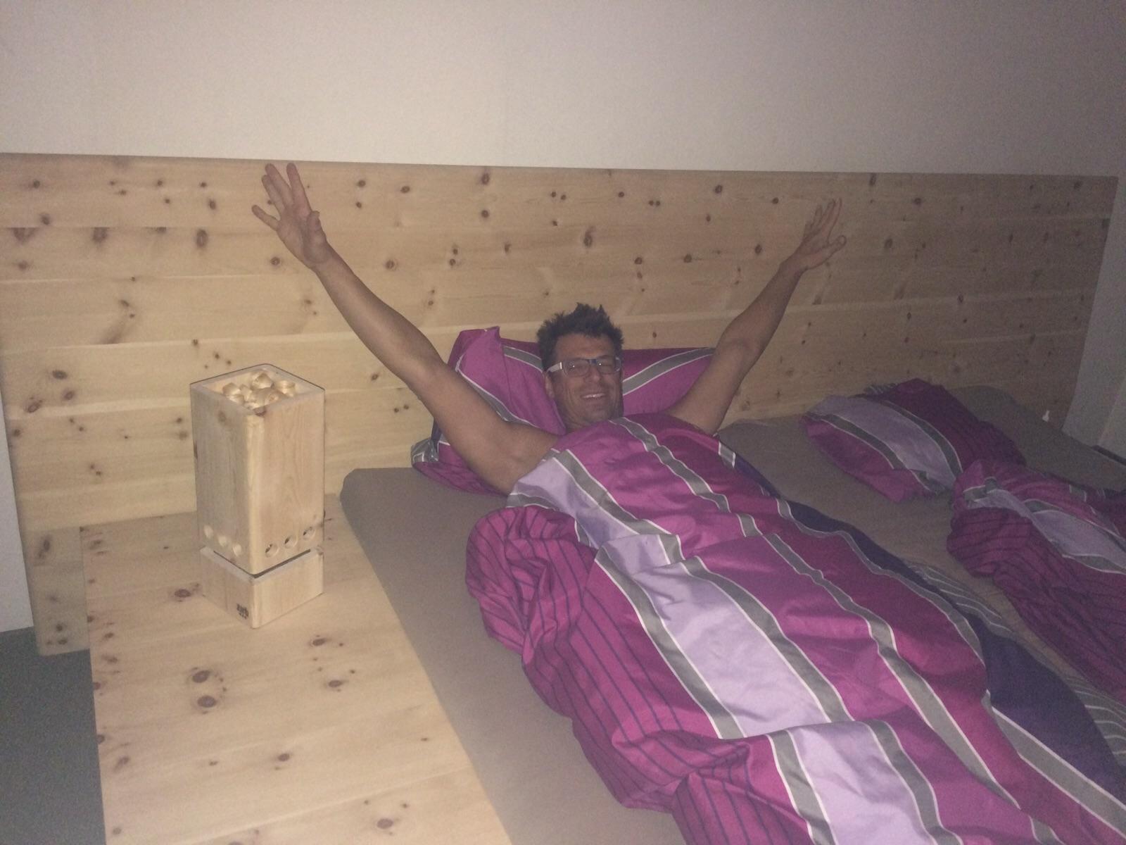 Guter Schlaf im Zirbenbett